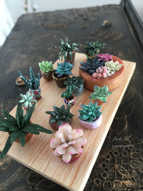 miniature Polymer Clay Flowers