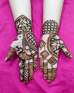 Brides_with_peacocks_mehndi_pattern