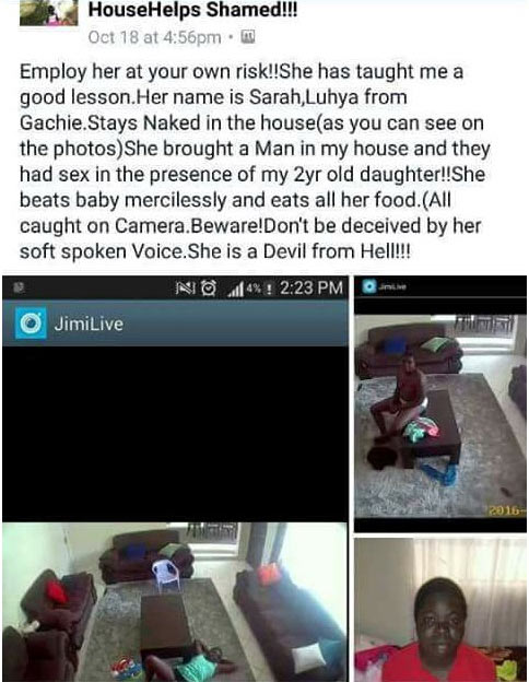Photos: Househelp caught having sex right in front of oga's 2-year-old daughter