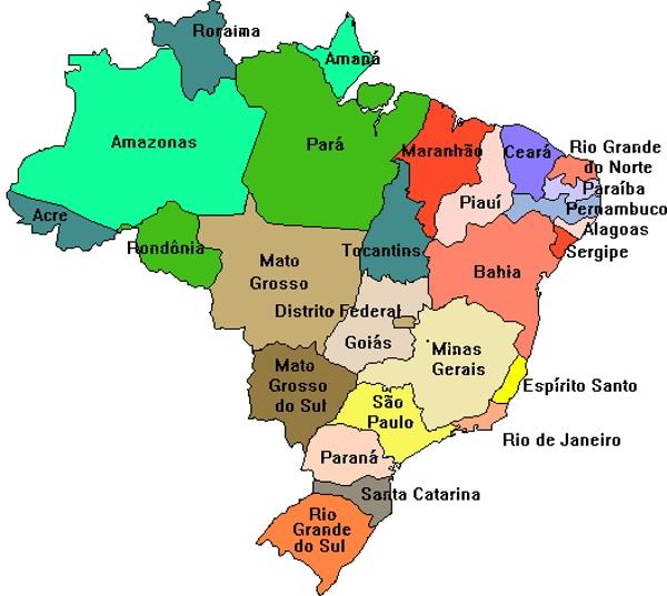 mapa do brasil com capitais BRASIL ESTADOS E CAPITAIS E MAPA ATUALIZADO   DADOS E ESTATÍSTICAS  mapa do brasil com capitais