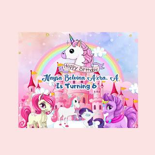 Desain Banner Ultah Tema Little Pony