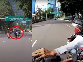 Viral Aksi Jambret Skuter Listrik di Sudirman Terekam Kamera