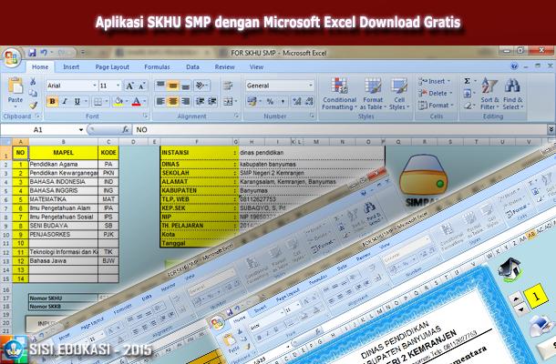 Aplikasi SKHU SMP dengan Microsoft Excel Download Gratis