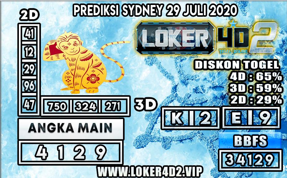 PREDIKSI TOGEL LOKER4D2 SYDNEY 29 JULI 2020