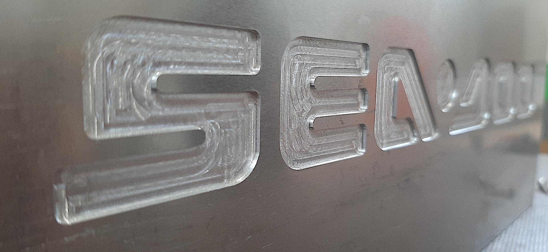 Blacha aluminiowa frezowany napis litery cyfry