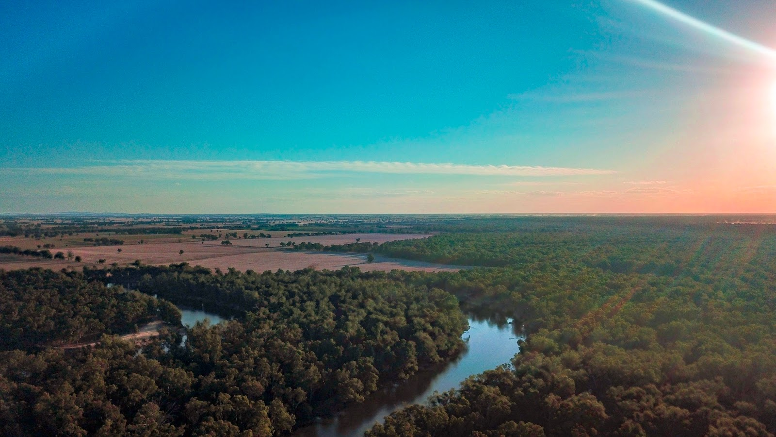 murray river from above