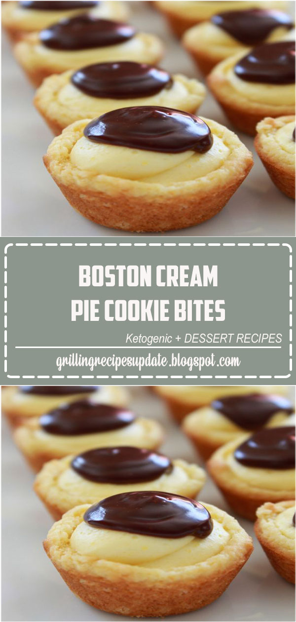 Everything you love about the traditional Boston Cream Pie in a bite size cookie that starts with a cake mix.#bostoncreampiecookiebites#bostoncreampiecookierecipe#bostoncreampie #cakemixcookie