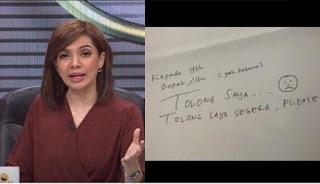Netizen Heboh ada Tulisan Minta Tolong, Najwa Ungkap Fakta yang Sebenarnya