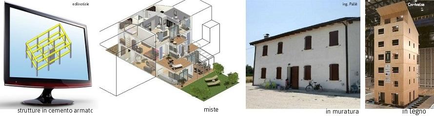 edificio antisismico in c.a. legno muratura misto