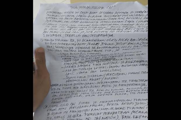 Surat Pernyataan Politik Sri Bintang Pamungkas