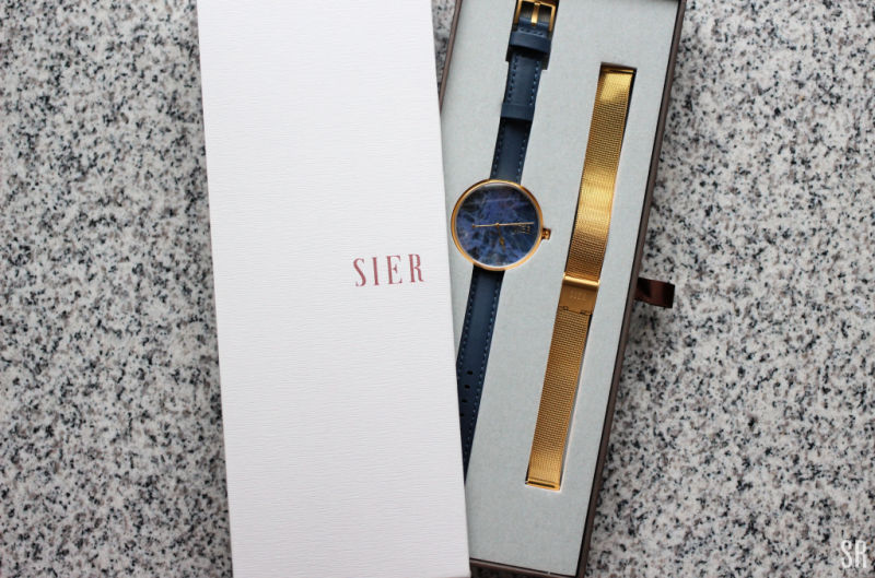 a blue and gold watch
