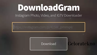 Cara Download Postingan di Instagram - geloratekno.com