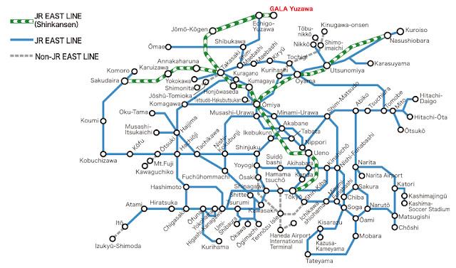 Rute yang bisa dijangkau Tokyo Wide Pass