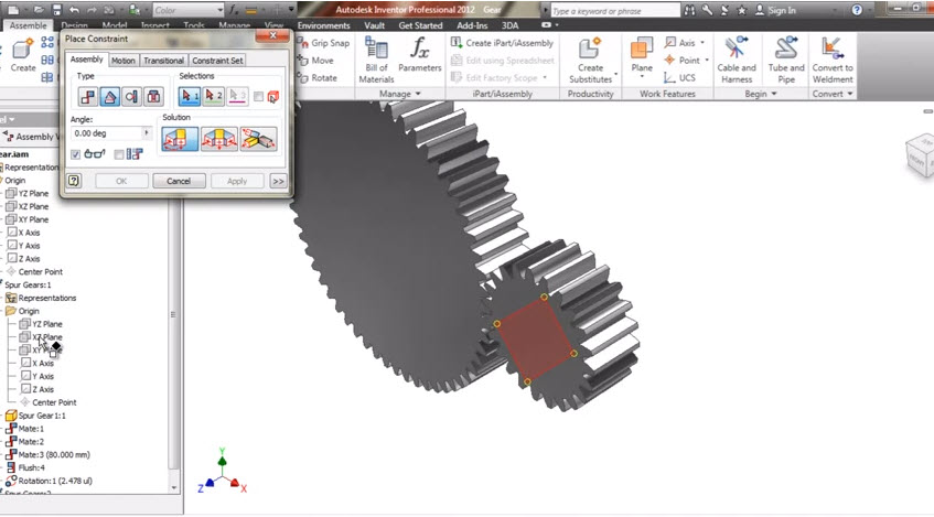 Drawing and graphics how to create a 3d gear to do animation in drawing and graphics how to create a 3d gear to do animation in scams autodesk inventor gear animation ccuart Image collections