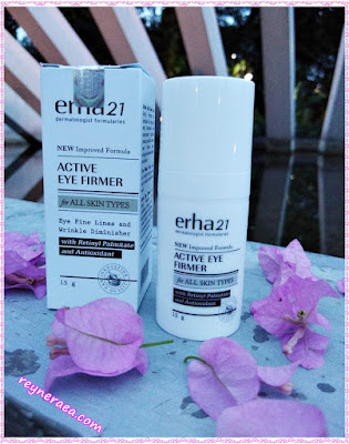 review erha21 active eye cream