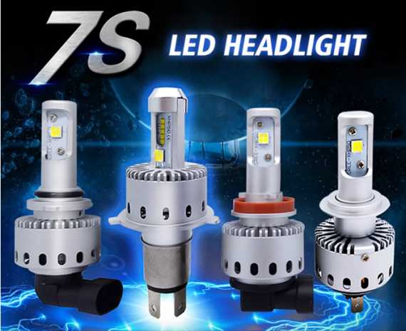 Car LED Headlights Bulbs Super Bright 8000LM Autoleader 7S 40W cree xhp50