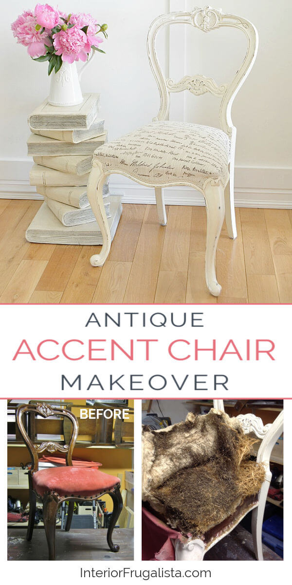 Antique Accent Chair Makeover