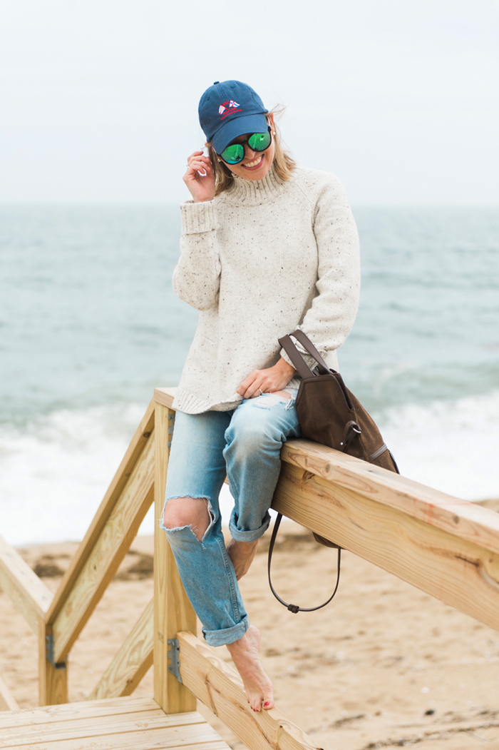 fall beach outfit