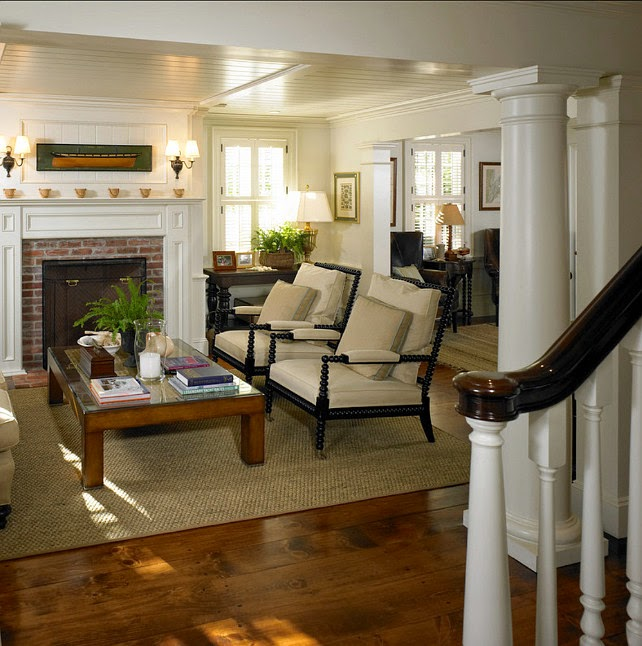 Beautiful Living Room Styles: Vintage Farmhouse: Martha's Vineyard 1700s Federal Colonial
