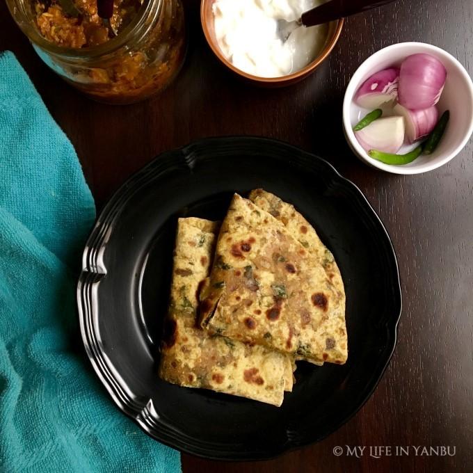 Fenugreek Leaves Flat Bread | Methi Paratha