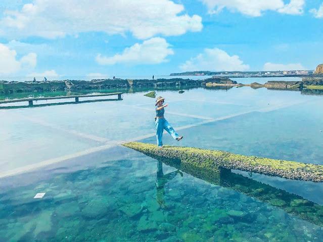 澎湖景點-池西岩瀑