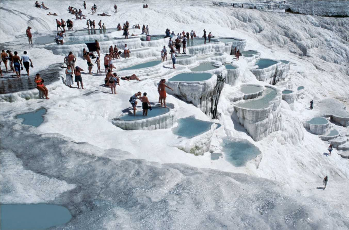 Travertine hot springs at pamukkale turkey for The terraces 2