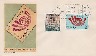 sobre, sello, matasellos, PDC, museo, Mérida, rapto, Europa