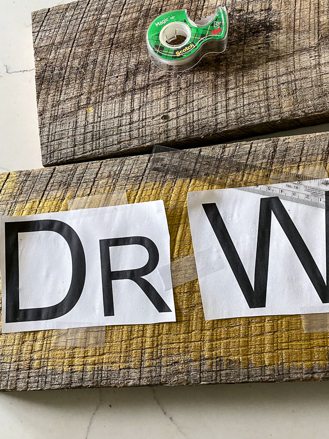 Measure and secure printed letters to sign