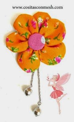 flores-tela-llaveros-colgantes