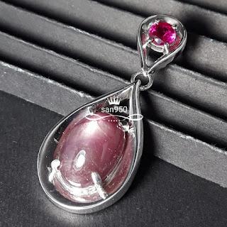 liontin pendant batu perak paladium