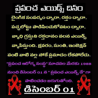Aids Day Images slogans in Telugu