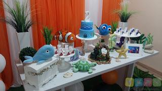 Decoração festa infantil Procurando Nemo Porto Alegre
