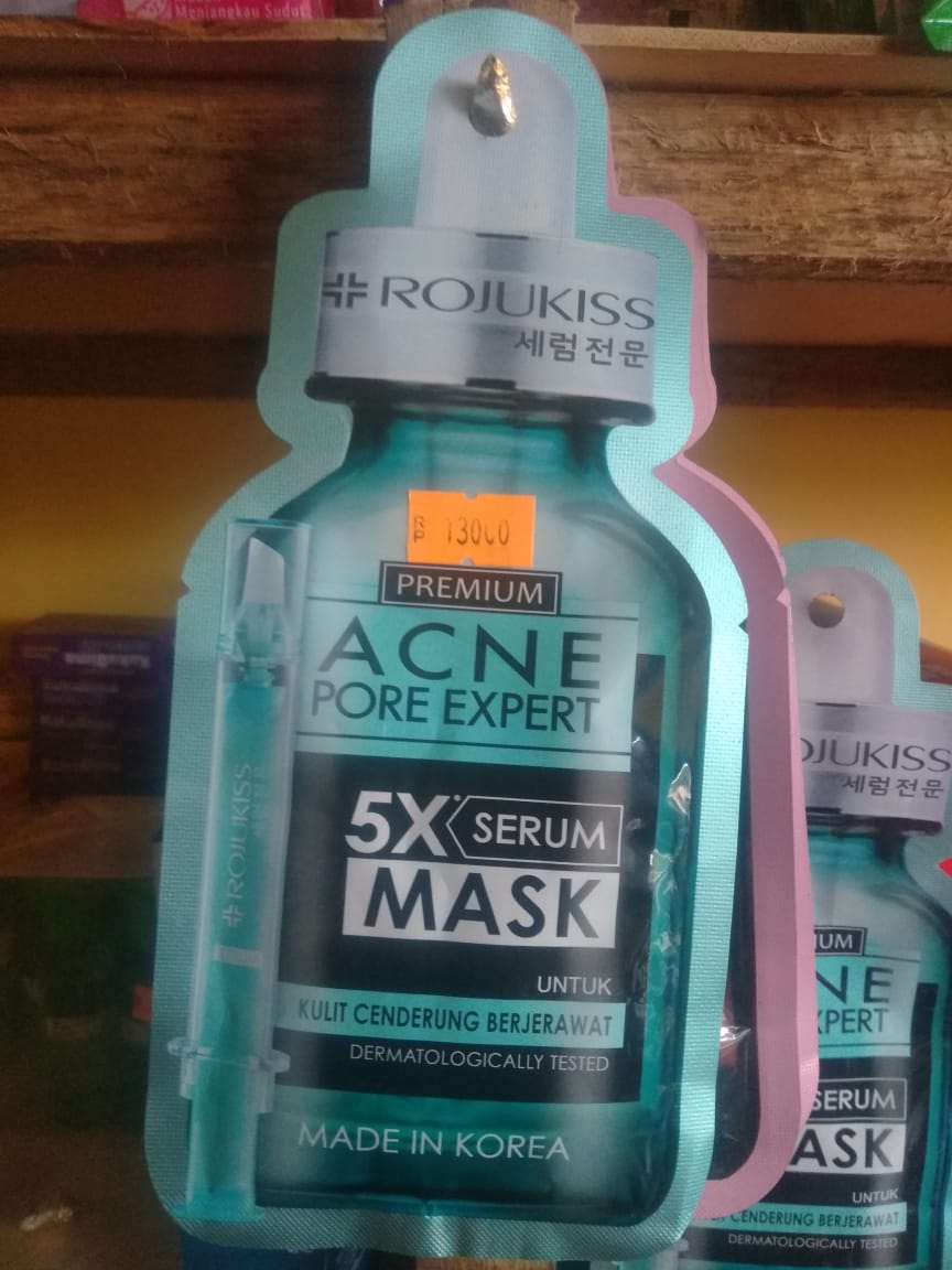 foto produk Rojukiss Premium Acne Pore Expert 5X Serum Mask