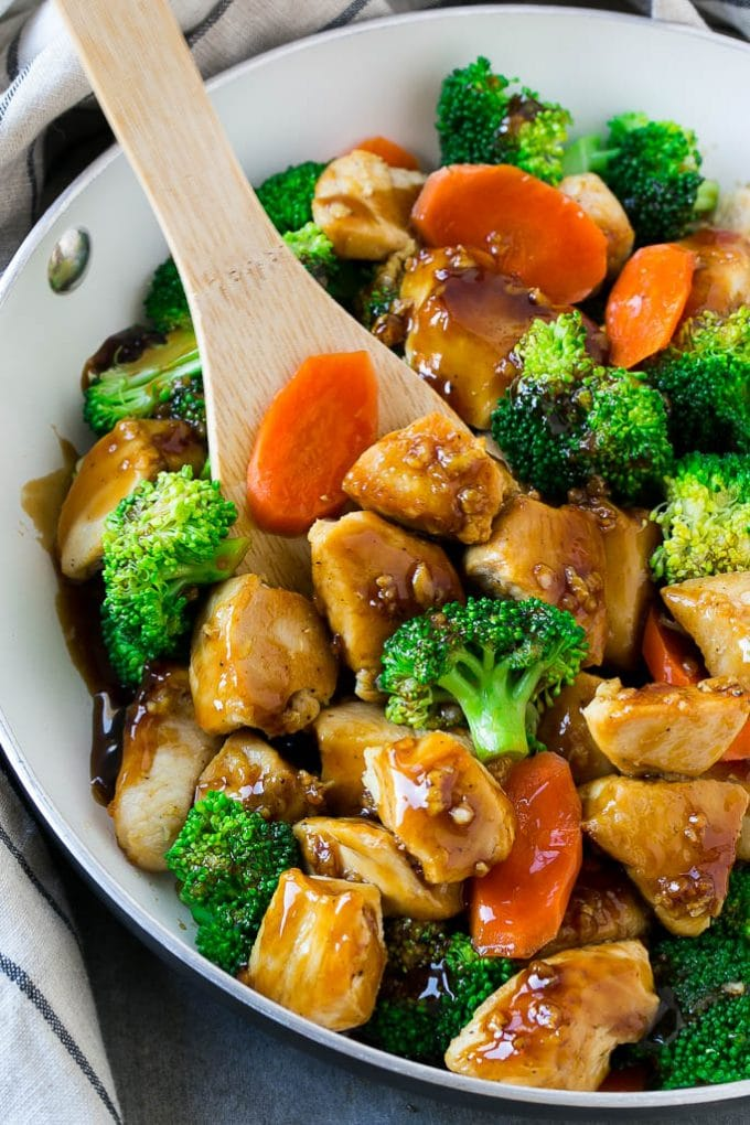 HONEY GARLIC CHICKEN STIR FRY #chicken #dinner #healthyrecipes #easy
