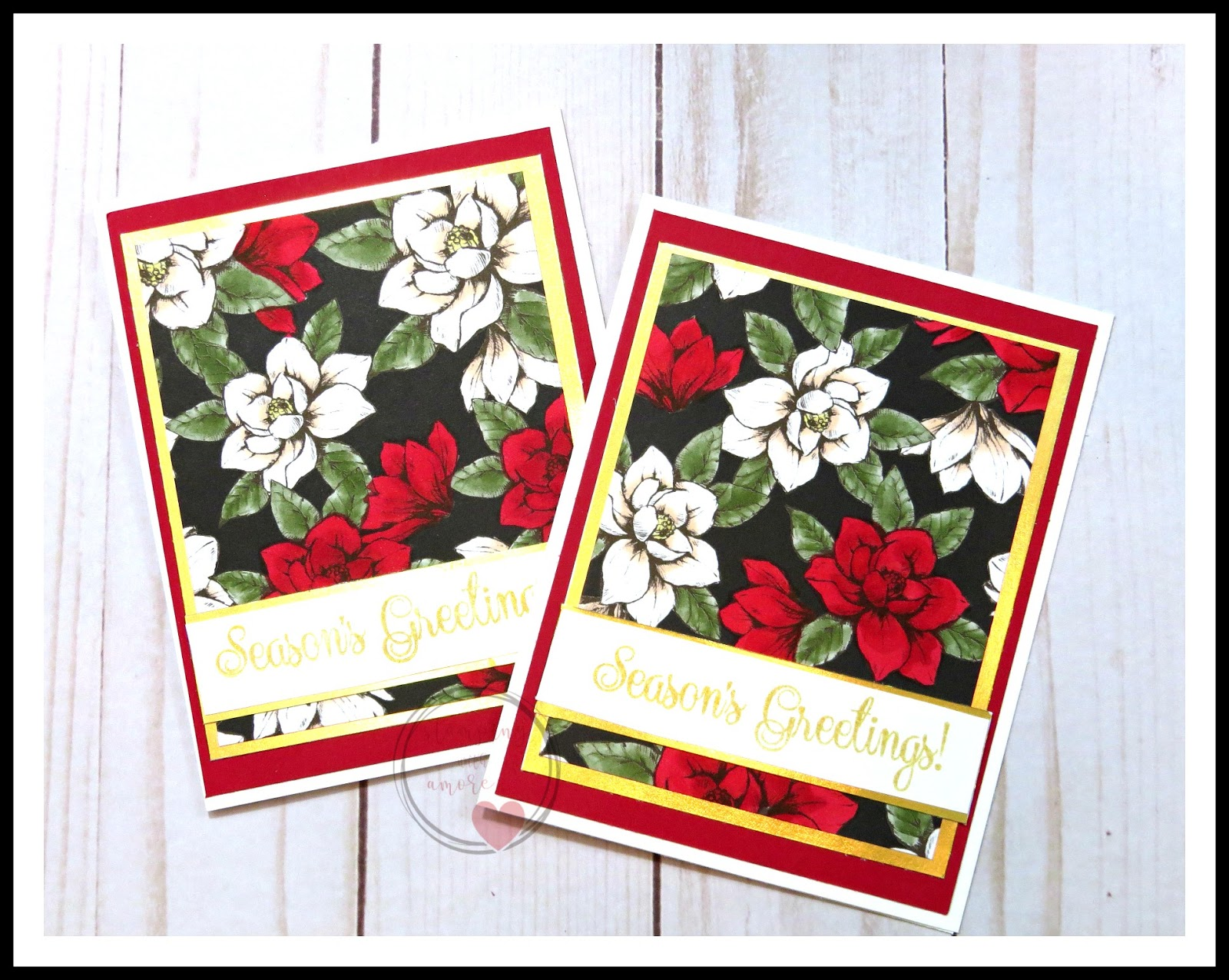 Christmas Card Lane 2019 Stampingwithamore: MERRY CHRISTMAS MEETS MAGNOLIA LANE CHRISTMAS CARD