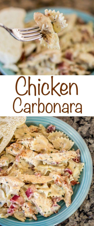 SENSATIONAL CHICKEN CARBONARA RECIPE #sensational #chicken #carbonara #recipe #dinnerrecipes #dinnerideas #dinner