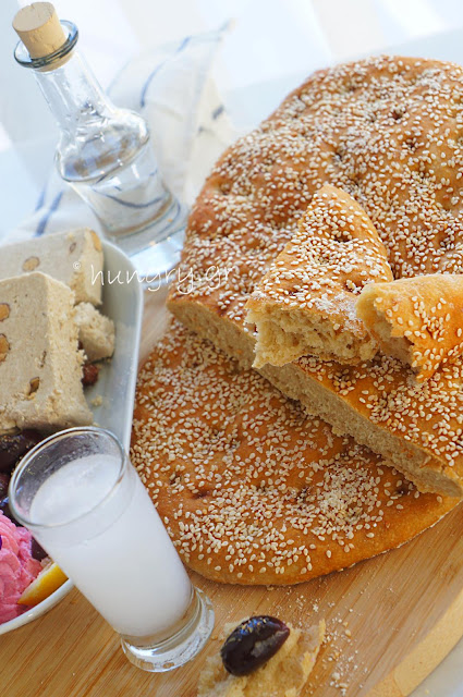 No Knead Lagana Bread