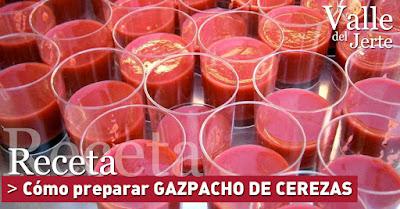 Receta gazpacho de cerezas