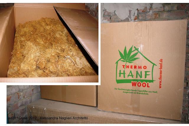 thermo-hanf fibra di canapa di riempimento isolamento infissi