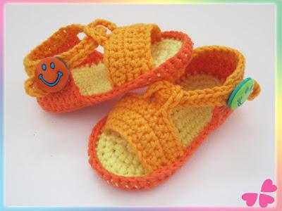 Häkelanleitung: Baby Schuhe, Baby Sandalen häkeln