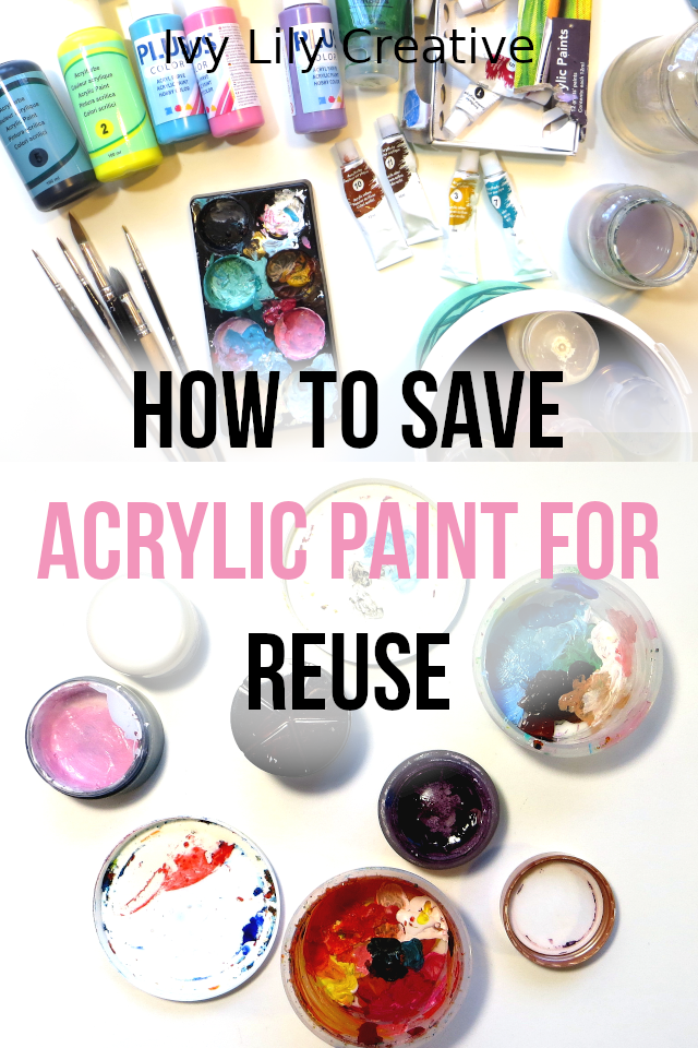 A quick tip on how to save acrylic paint for later! If you mix too much acrylic paint or pour too much paint out of the tube, do you know what to do with the leftover paint?