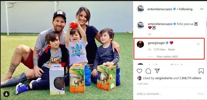 Ronaldo's girlfriend comments on Instagram post of Messi's wife over Easter