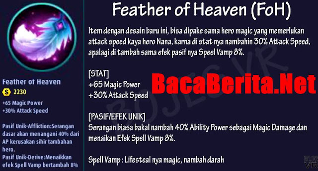 Fungsi item mage Feather of Heaven mobile legend