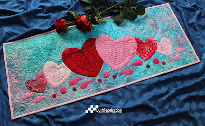 Love Abounds II table runner by QuiltFabrication