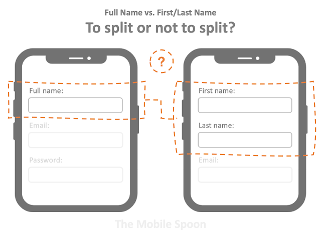 Full name vs. First/last name - to split or not to split - The Mobile Spoon