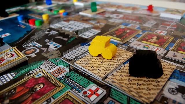 Brides & Bribes review carriage meeples