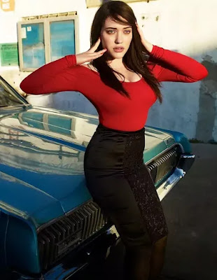 Red Beauty Of Kat Dennings