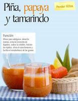 Jugos saludables piña papaya y tamarindo
