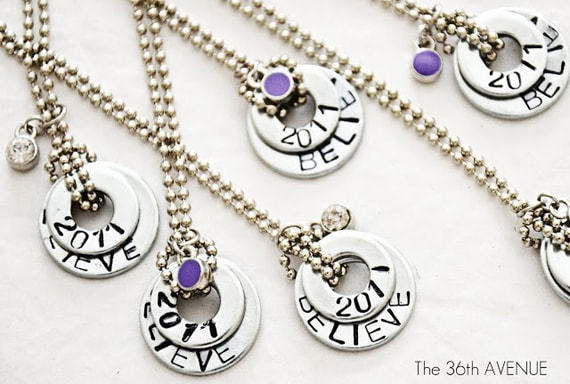 DIY Stamped Washer Necklace from The 36th Avenue