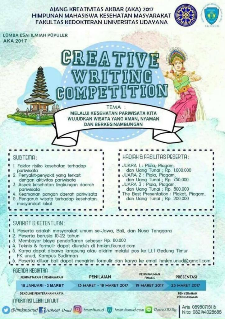 Creative Writing Competition 2017 Lomba Menulis Esai Fk Unud Dl